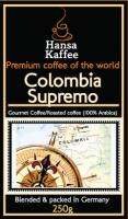 Кофе арабика зерновой Колумбия Супремо / Colombia Supremo