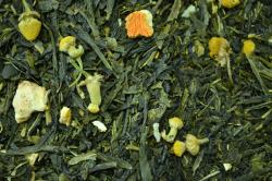 Зелёный ароматизированный чай Японская липа / Green flavored tea Japanese linden