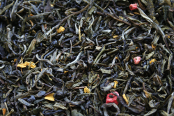 Зелёный ароматизированный 8 Сокровищ Шаолиня /  чай Shaolins Eight Treasures -Green Tea  with  strawberry  en Tea  with  strawberry  / 8 Сокровищ Шаолиня